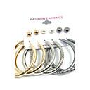 hesapli Kulaklık Setleri ve Kulaklıklar-Kadın's Vidali Küpeler Halka Küpeler - İnci Sallantılı Stil Altın Uyumluluk Düğün Parti Günlük