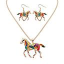 tanie Zestawy biżuterii-Damskie Biżuteria Ustaw - Zwierzę Luksusowy, Unikalny, Wiszący Zawierać Gold / Silver Na Ukończenie szkoły / Dziękuję Ci / Biznes