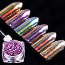 hesapli Makyaj ve Tırnak Bakımı-6box Glitter & Poudre pırıltılar / Klasik / Neon ve Parlak Günlük