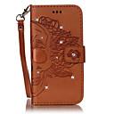 Недорогие Чехлы и кейсы для Galaxy S5 Mini-Кейс для Назначение SSamsung Galaxy S7 edge / S7 / S6 edge Бумажник для карт / Стразы / со стендом Чехол Черепа Твердый Кожа PU