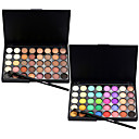 cheap Makeup & Nail Care-40 Color Eyeshadow (2 Color Set to Choose)+ 1 Eyeshadow Brush Shadow Makeup Brushes Dry Matte Shimmer Eye Face Extended Shimmer glitter