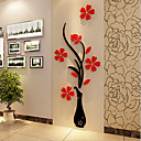preiswerte Hundehalsbänder, Geschirre & Leinen-Weihnachten Romantik Blumen Wand-Sticker 3D Wand Sticker Dekorative Wand Sticker,Vinyl Stoff Haus Dekoration Wandtattoo