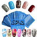 cheap Makeup & Nail Care-48pcs set hot fashion sweet style beautiful lace nail water transfer decals beautiful flower lace nail art diy beauty beautiful decals stz v01 48
