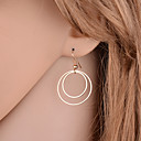 cheap Earrings-Women's Drop Earrings - Basic, Simple Style, Double-layer Gold / Silver For Party / Daily / Casual