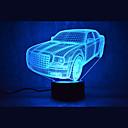 رخيصةأون مصابيح ليد مبتكرة-1 قطعة ليلة 3D USB جهاز استشعار / تخفيت / ضد الماء LED / الحديثة / المعاصرة