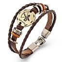 voordelige Armbanden-Dierenriem Lederen armbanden - Leder Boogschutter 23/11 - 21/12 Vintage Armbanden Bruin Voor Lahja