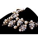 billige Mode Halskæde-Dame Krystal Strands halskæde Personaliseret Vintage Euro-Amerikansk Sølv Halskæder Smykker Til Bryllup Fest Tillykke