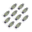 رخيصةأون أضواء السيارة الداخلية-10pcs Festoon سيارة لمبات الضوء SMD LED 35 lm LED أضواء الخارج