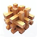 preiswerte Puzzles-Bälle Holzpuzzle Knobelspiele Kong Ming Geduldspiel Luban Geduldspiel Quadratisch Intelligenztest Holz Unisex Geschenk