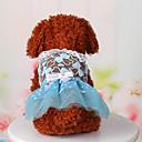 hesapli Köpek Giyim ve Aksesuarları-Köpek Elbiseler Köpek Giyimi Dantel Mavi Pembe Pamuk Kostüm Evcil hayvanlar için Kadın's Sevimli Günlük/Sade Sporlar