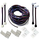 cheap Downlights-A set- LED Strips Connectors Full Kits Strip to Strip Jumper L-Shape Corner Connector RGB Extension Cable Gapless Connector Strip to Control box