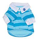 Недорогие Органайзеры для рабочего стола-Кошка Собака Футболка Одежда для собак В полоску Красный Синий Хлопок Костюм Для домашних животных Муж. Жен. На каждый день
