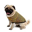 hesapli Köpek Giyim ve Aksesuarları-Köpek Tişört Köpek Giyimi Çizgi Sarı Pembe Beyaz/Mavi Pamuk Kostüm Evcil hayvanlar için