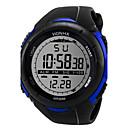 levne Pánské-Pánské Sportovní hodinky Digitální hodinky Digitální Silikon Černá 30 m Hodinky na běžné nošení Cool Digitální Bílá Černá Modrá