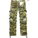 billige Kæde Halskæde-Herre Aktiv / Basale / Militær Daglig Løstsiddende / Lastbukser Bukser - camouflage Lysegrøn 38 42 44
