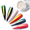 cheap Makeup & Nail Care-top neon sparkle unicorn mirror nail powder 0 2g ultra thin aurora mermaid chrome pi g ment manicure nail diy jewelry