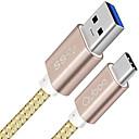 hesapli Cep Telefonu Lensleri-USB 3.0 / C Tipi Örgülü / Yüksek Hız / Hızlı Ücret Kablo Samsung / Huawei / LG için 100 cm Uyumluluk Naylon