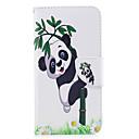 رخيصةأون Huawei أغطية / كفرات-غطاء من أجل هواوي P9 هواوي P9 لايت Huawei حامل البطاقات محفظة مع حامل قلب نموذج مطرز غطاء كامل للجسم باندا قاسي جلد PU إلى P10 Lite P10