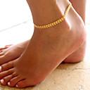 hesapli Vücut Takıları-Ayak bileziği - Leaf Shape Moda Altın / Gümüş Uyumluluk Günlük Kadın's