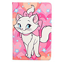 cheap iPad  Cases / Covers-Case For Apple with Stand / Flip / Pattern Full Body Cases Cat Hard PU Leather for iPad Air / iPad 4/3/2 / iPad Air 2 / iPad (2017)