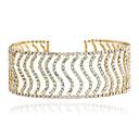 preiswerte Halsketten-Damen Halsketten - Strass Modisch, Euramerican Gold, Silber Modische Halsketten Schmuck Für Hochzeit, Party