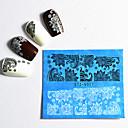 hesapli Makyaj ve Tırnak Bakımı-48 pcs Dantel çıkartmalar Su Transferi Sticker tırnak sanatı Manikür pedikür Moda Günlük / Dantel Çıkartması