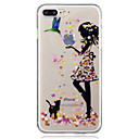 cheap iPhone Cases-Case For Apple iPhone X / iPhone 8 IMD / Transparent / Pattern Back Cover Cat / Sexy Lady Soft TPU for iPhone X / iPhone 8 Plus / iPhone 8