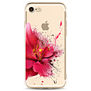 baratos Capinhas para iPhone-Capinha Para Apple iPhone X / iPhone 8 Transparente / Estampada Capa traseira Flor Macia TPU para iPhone XS / iPhone XR / iPhone XS Max