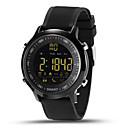 Χαμηλού Κόστους Ανδρικά ρολόγια-Ανδρικά Έξυπνο ρολόι Ψηφιακό ρολόι Ψηφιακή σιλικόνη Πολύχρωμο 30 m Ανθεκτικό στο Νερό Συσκευή Παρακολούθησης Καρδιακού Παλμού Ημερολόγιο Ψηφιακό Φυλαχτό - Ασημί Πορτοκαλί Πράσινο / Δύο χρόνια