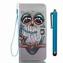 ieftine Carcase / Huse Galaxy S Series-Maska Pentru Samsung Galaxy S8 Plus S8 Titluar Card Portofel Cu Stand Întoarce Model Carcasă Telefon Bufniţă Greu PU piele pentru S8 Plus