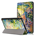 hesapli PS4 Aksesuarları-Pouzdro Uyumluluk Huawei Tam Kaplama Kılıf / Tablet Kılıfları Sert PU Deri için