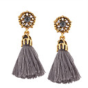 cheap Necklaces-Women's Tassel Drop Earrings - Personalized, Tassel, Bohemian Black / Gray / Red For Wedding / Anniversary / Housewarming
