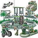 ieftine Jucării educaționale-GUDI Lego Blocuri militare Minifigurine 318 pcs Soldat / Warrior Militar Rezervor Luptător compatibil Legoing Camuflaj Reparații Unisex Băieți Fete Jucarii Cadou / Jucării Educaționale