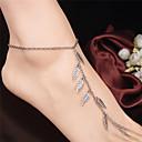 tanie Sandały ozdobne-Sandały Barefoot - Leaf Shape Modny Silver Na Codzienny / Casual / Outdoor oděvy / Damskie