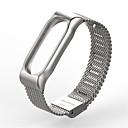 voordelige Hoesjes / covers voor Xiaomi-Horlogeband voor MiBand Mi Band 2 Xiaomi Milanese lus Roestvrij staal Polsband