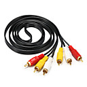 preiswerte Audio- & Video-Kabel-3RCA Kabel, 3RCA to 3RCA Kabel Male - Male 1.5M (5Ft)