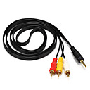 cheap HDMI Cables-3RCA Connect Cable, 3RCA to 3RCA Connect Cable Male - Male 1.5m(5Ft)