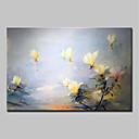 お買い得  ヘッドセット、ヘッドホン-ハング塗装油絵 手描きの - 花柄 / 植物の 抽象画 / 近代の キャンバス