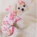 Χαμηλού Κόστους Ρούχα και αξεσουάρ για σκύλους-Σκύλος Πυτζάμες Ρούχα για σκύλους Κινούμενα σχέδια Κίτρινο Πράσινο Ροζ Βαμβάκι Στολές Για Άνοιξη & Χειμώνας Χειμώνας Καθημερινά