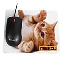 hesapli Fırın Araçları ve Gereçleri-Maikou mouse pad kedi giyer gözlük pc mat bilgisayar kaynağı aksesuar