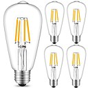 رخيصةأون مصابيح خيط ليد-5pcs 4 W مصابيحLED 360 lm E26 / E27 ST64 4 الخرز LED COB ديكور أبيض دافئ أبيض كول 220-240 V / 5 قطع / بنفايات