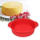 hesapli Çay Takımları-Bakeware araçları Silika Jel Pişirme Aracı Günlük Kullanım Dairesel Pasta Kalıpları 1pc