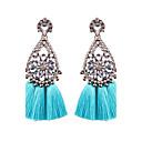 cheap iPhone Cases-Women's Tassel Drop Earrings - Flower Bohemian, Boho Light Blue / Light Pink / Royal Blue For Wedding / Party / Graduation