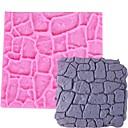 hesapli Fırın Araçları ve Gereçleri-Kuru duvar formas silikon kek kalıp kale taş kabuk fondan kek çikolata kalıp