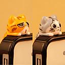 رخيصةأون معلقات الجوال-مكافحة الغبار التوصيل دي القط الكرتون لعبة بك دي آيفون 8 7 سامسونج غالاكسي s8 s7
