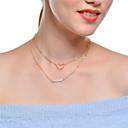 preiswerte Schmuck-Sets-Damen Kristall Mehrschichtig Halsketten / Ketten - Krystall Herz Mehrlagig Gold, Silber Modische Halsketten Für Party, Alltag
