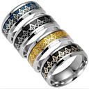 cheap Rings-Men's Band Ring - Titanium Steel Fashion 6 / 7 / 8 Black / Silver / Dark Blue For Daily