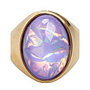 cheap Brooches-Women's Statement Ring Ring - Titanium Steel Fashion 7 / 8 / 9 / 10 / 11 Purple / Yellow For Daily Casual