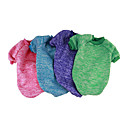 voordelige Hondenkleding & -accessoires-Hond Sweatshirt / Jumpsuits Hondenkleding Effen Groen / Blauw / Roze Katoen Kostuum Voor huisdieren Casual / Dagelijks