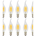 hesapli LED Tavan Işıkları-10pcs 6W 560lm E14 LED Filaman Ampuller C35L 6 LED Boncuklar COB Dekorotif Sıcak Beyaz / Serin Beyaz 220-240V / 10 parça / RoHs